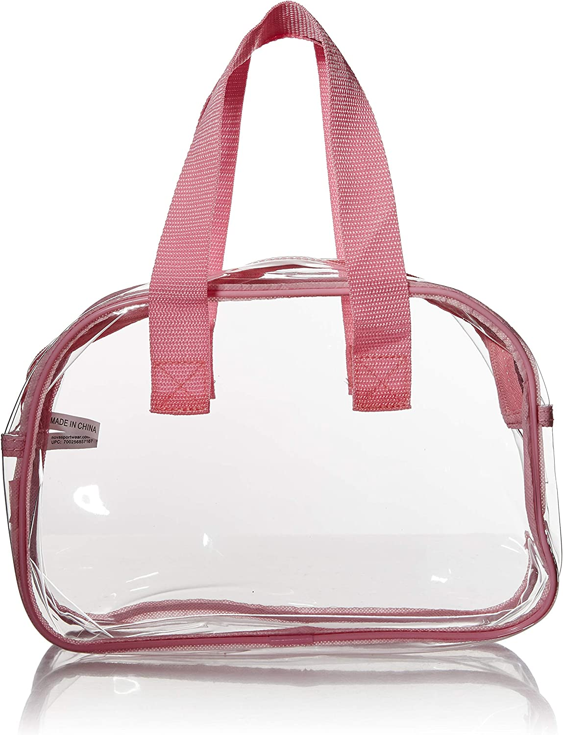 Nova Sport Wear Clear Purse That is Event Stadium Approved. Clear Handbags for Cosmetics, Makeup, and Travel. Clear Bag Made of Transparent Plastic