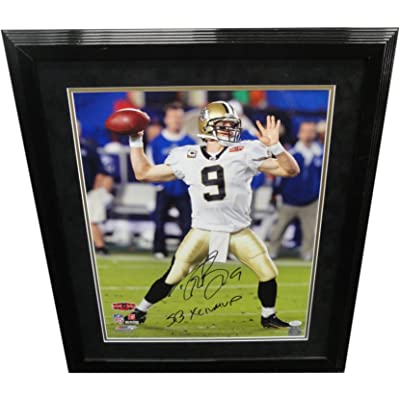 74506f03 Drew Brees Hand Signed Auto 16X20 Photo New Orleans Saints Framed ...
