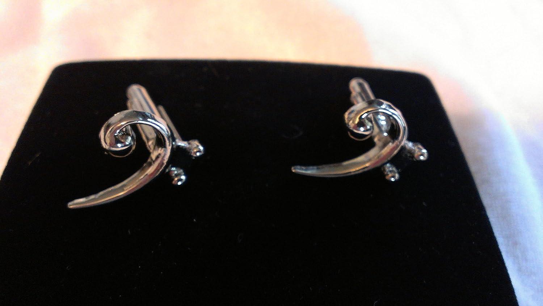 Bass Clef Silver-plated cufflinks