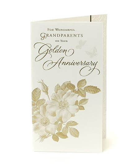 Tarjeta de felicitación de 50 aniversario de boda para ...