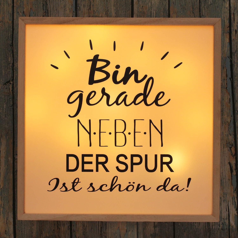 LED Leuchtbild BIN GERADE NEBEN DER SPUR: Amazon.de: Küche & Haushalt