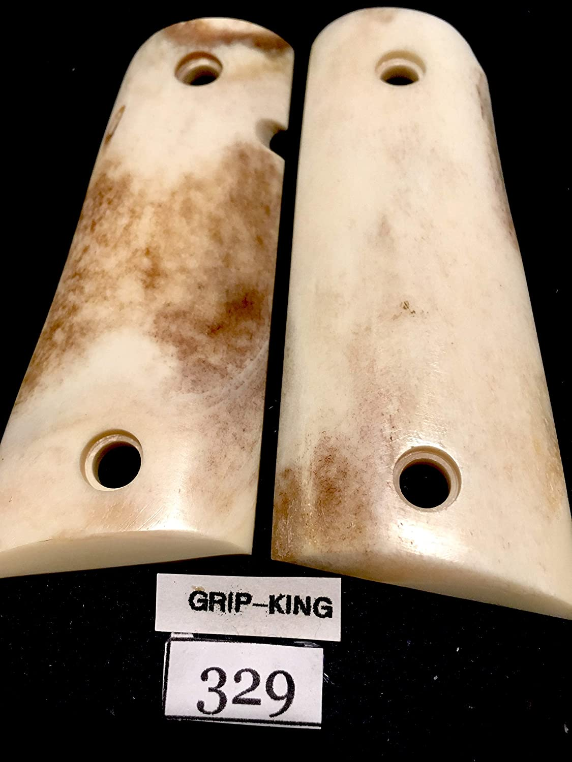 COMPACT 1911 GRIPS FITS 3-4 INCH BARRELS,GENUINE BUFFALO BONE. #329.SALE