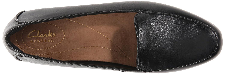 CLARKS Women's Keesha Luca Slip-On Loafer B00T3IN5CK 6 M US|Black Leather