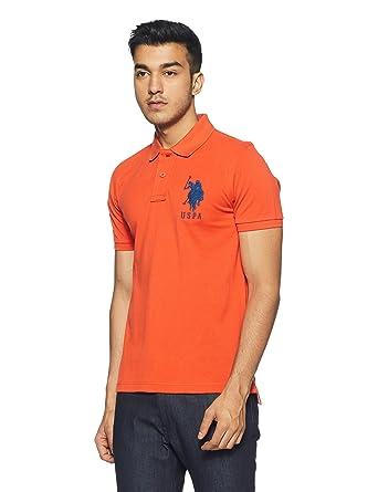 92e5991dd U.S. Polo Assn. Men's Regular Fit T-Shirt (USTS1841_Tigerlily_S)