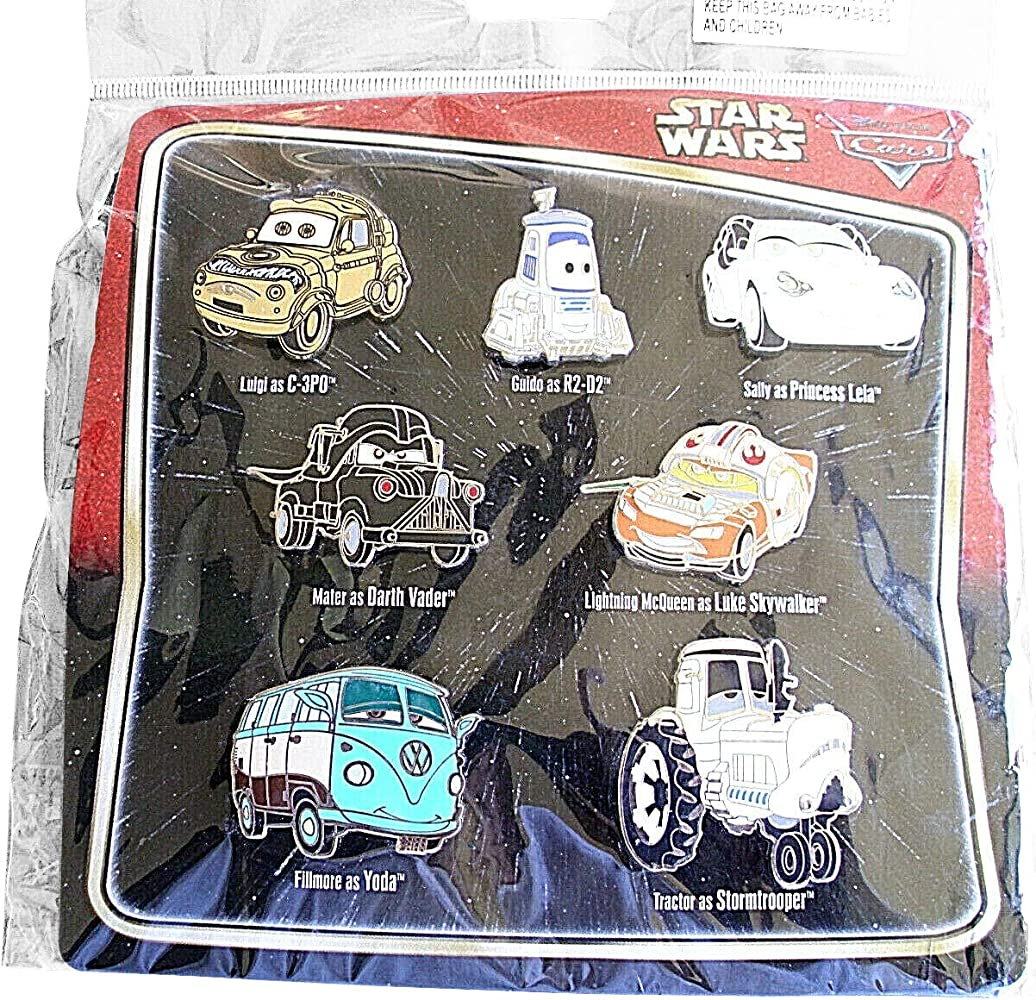 Amazon Com Disney Pixar Cars As Star Wars Characters Pin Set