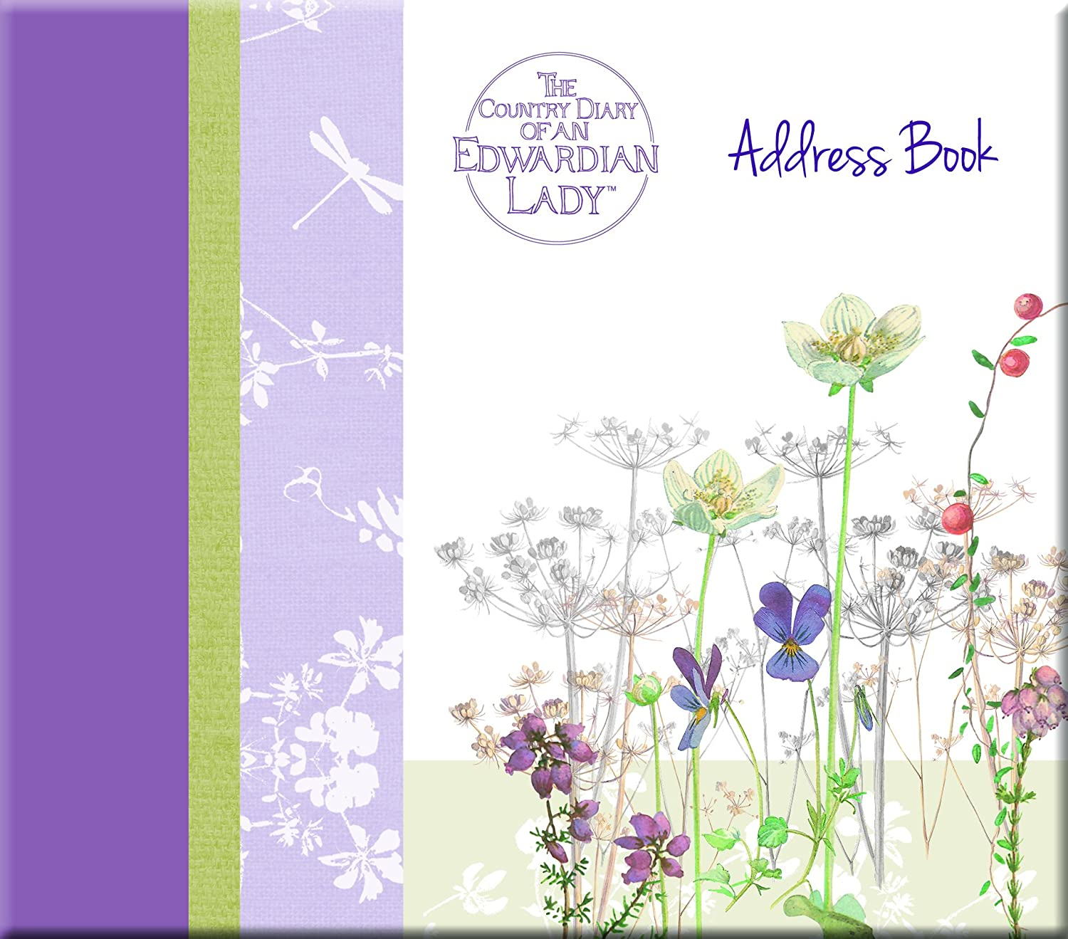Edwardian Lady - Country Meadows Address Book, 5.63 x 0.67 x 6.30 Inches The Gifted Stationery
