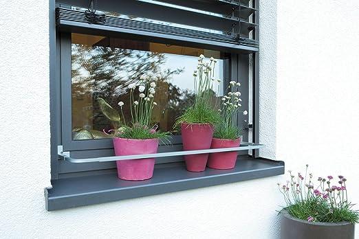 soporte macetas ventana extensible