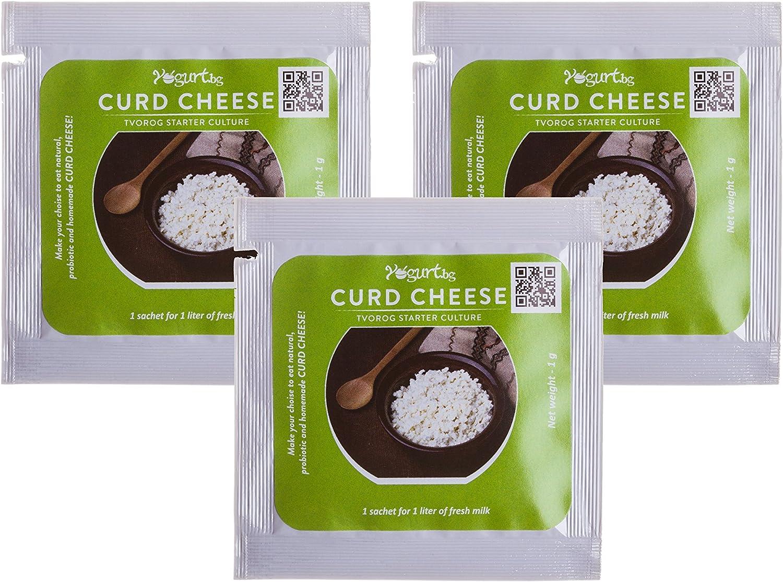Cultivo de queso en grano/curd cheese/tvorog - para preparar en casa - 3 bolsitas