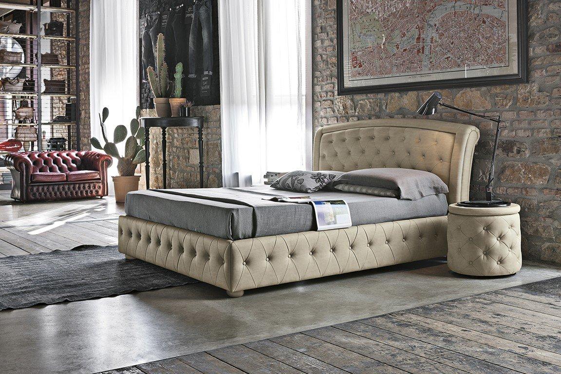 Sicilia-piel sintética para cama de matrimonio