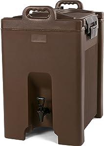 Carlisle XT1000001 Cateraide Insulated Beverage Server/Dispenser, 10 Gallon, Brown