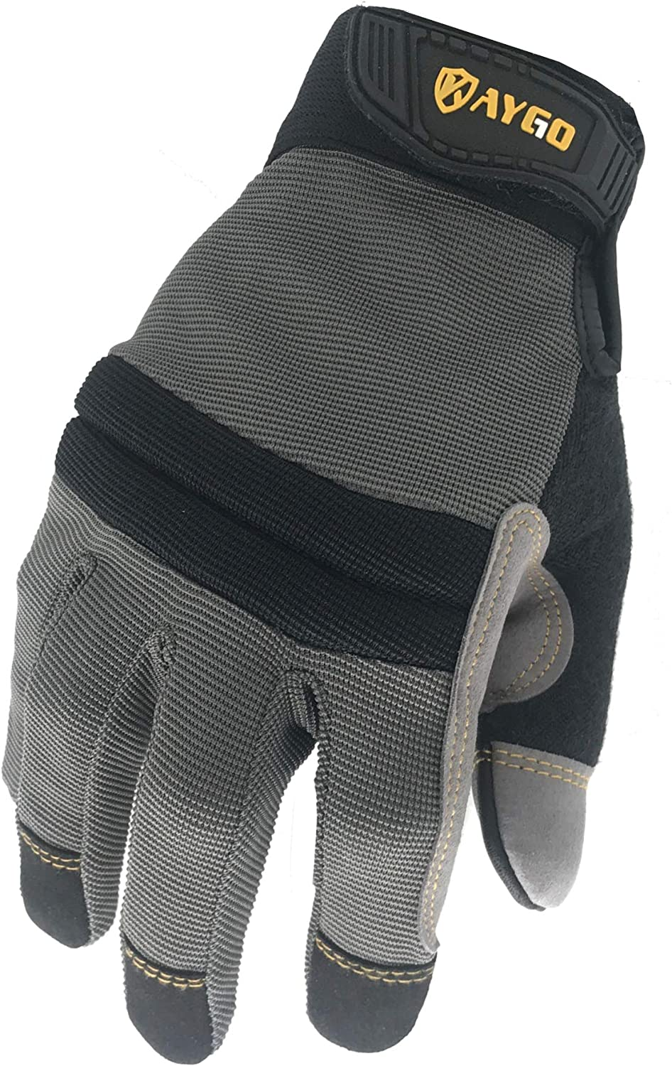 Mechanic Gloves-KAYGO KG125M Safety Working Gloves for Men, Excellent Grip,Heavy Duty,Improved Dexterity,Ideal for working on cars and outdoor jobs