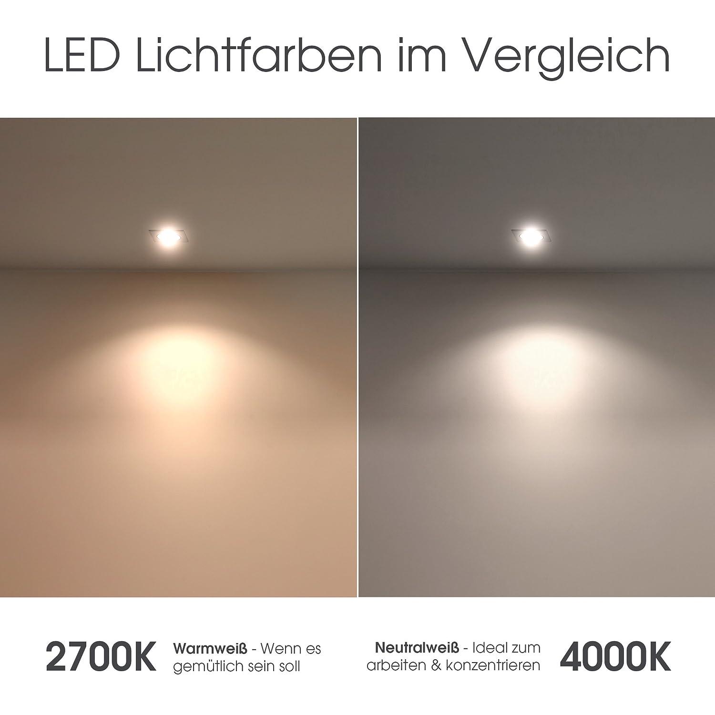 extra flacher Aufputzspot /Ø 90 x 50 mm SSC-LUXon/® runder LED Aufbaustrahler schwarz dimmbar mit LED Modul 5W warmwei/ß 230V