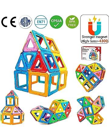 Jasonwell Bloques de Construcción Magnéticos 42 Piezas Bloques Magnéticos 3D Juguetes Construcción Juguetes magnéticos Juego Creativo