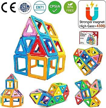 Jasonwell Bloques de Construcción Magnéticos para Niños 42 Piezas ...