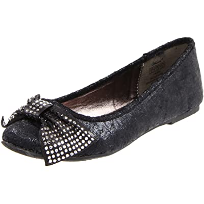 Wanted Shoes Women's Fairy Ballet Flat, Black, 7.5 M US | Flats