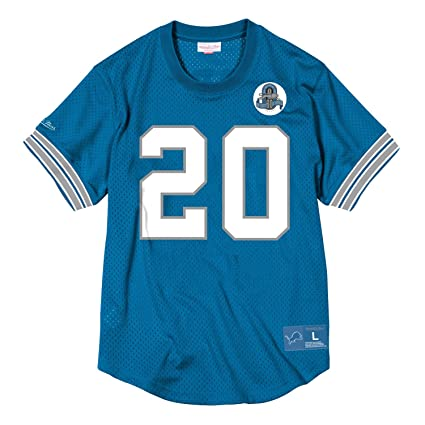 Image Unavailable. Image not available for. Color  Mitchell   Ness Barry  Sanders Detroit Lions Mesh N N Crew Neck Jersey Men s 5f21478df