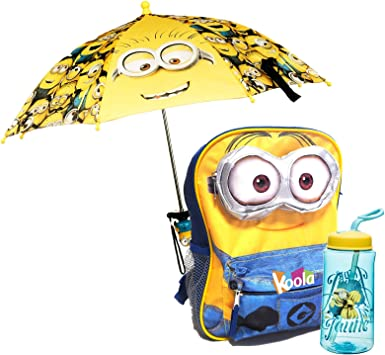 """MINIONS 3D Small Backpack 12/"""" Toddler Boy backpack Licensed"""