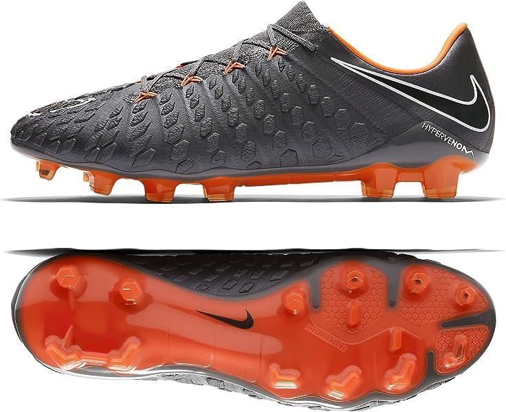 6d839fece Nike Hypervenom Phantom III Elite FG AH7273-081 Grey/Orange Men's Soccer  Cleats (