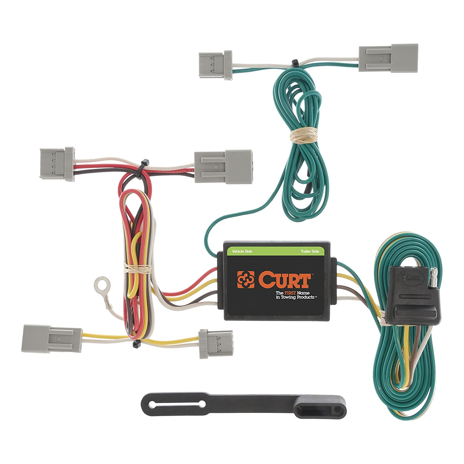 curt 56011 vehicle side custom 4 pin trailer wiring harness for select honda accord, civic, fit, mazda 3, cx 5, mitsubishi galant  2011 mitsubishi outlander trailer