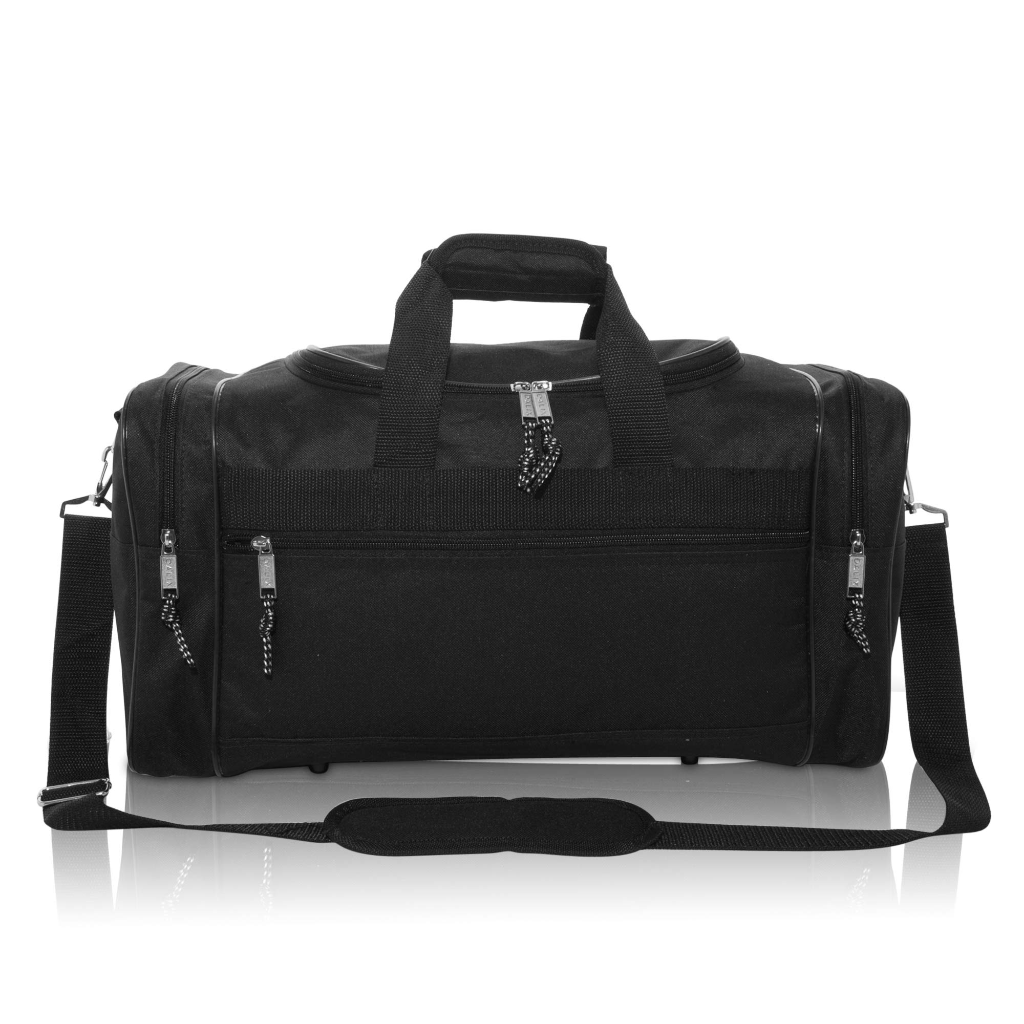 DALIX Blank Duffle Bag Duffel Bag in Black Gym Bag - DF-005-Black   Sports  Duffels   Clothing, Shoes   Jewelry - tibs 13a3f680d2