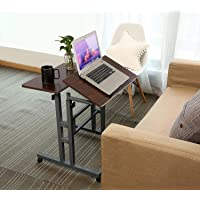 Qwork Mobile Stand up Height Adjustable Computer Desk Home Office Computer Workstation Tilting Table with Dual Surface…