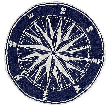 round nautical rugs. Area Rugs - \u0026quot;Mariners Compass\u0026quot; Rug 5\u0027 Round Indoor Outdoor Nautical C