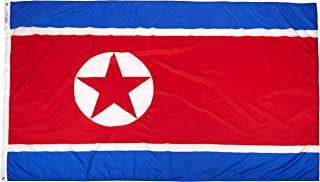 product image for Annin Flagmakers Model 221499 North Korea Flag Nylon SolarGuard NYL-Glo, 5x8 ft, 100% Made in USA to Official United Nations Design Specifications