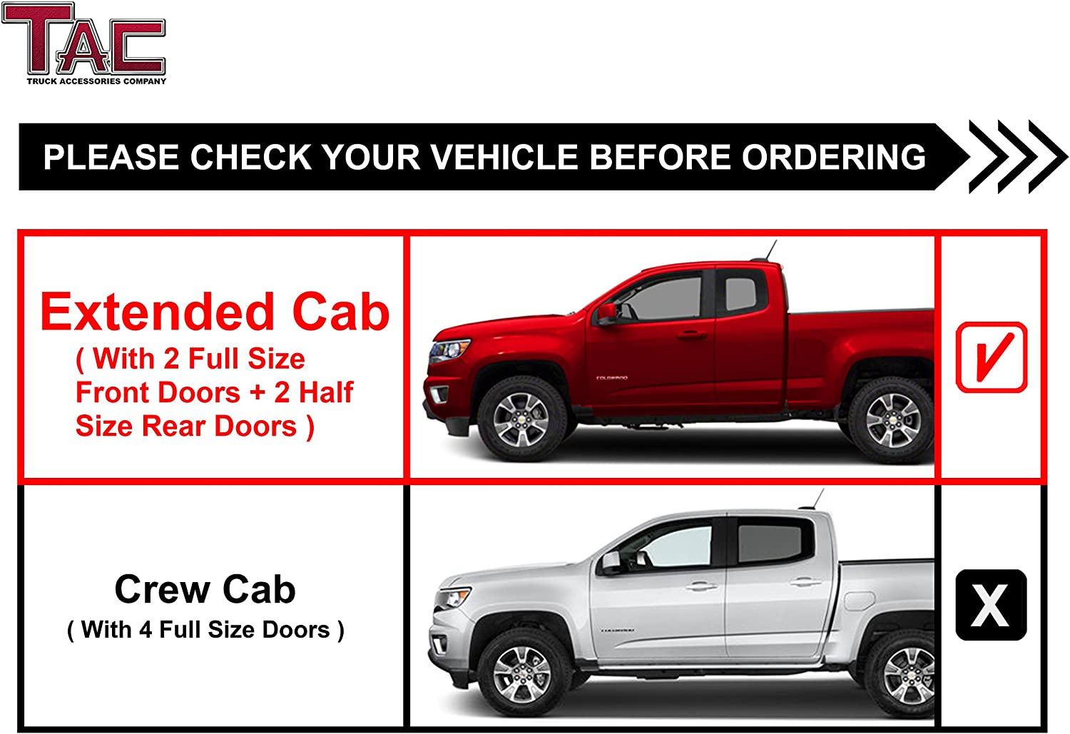 1999-2014 Chevy Silverado//GMC Sierra 2500//3500 Extended Cab Truck Pickup Oval Bend Black PNC Nerf Bars Running Boards TAC 4.25 Side Steps Fit 1999-2013 Chevy Silverado//GMC Sierra 1500 Extended Cab