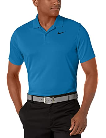 Nike Mens Nike Dry Victory Polo Solid Left Chest, Green Abyss ...