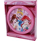 Disney Princesses 10 inch Wall Clock Featuring Cinderella, Belle, and Ariel