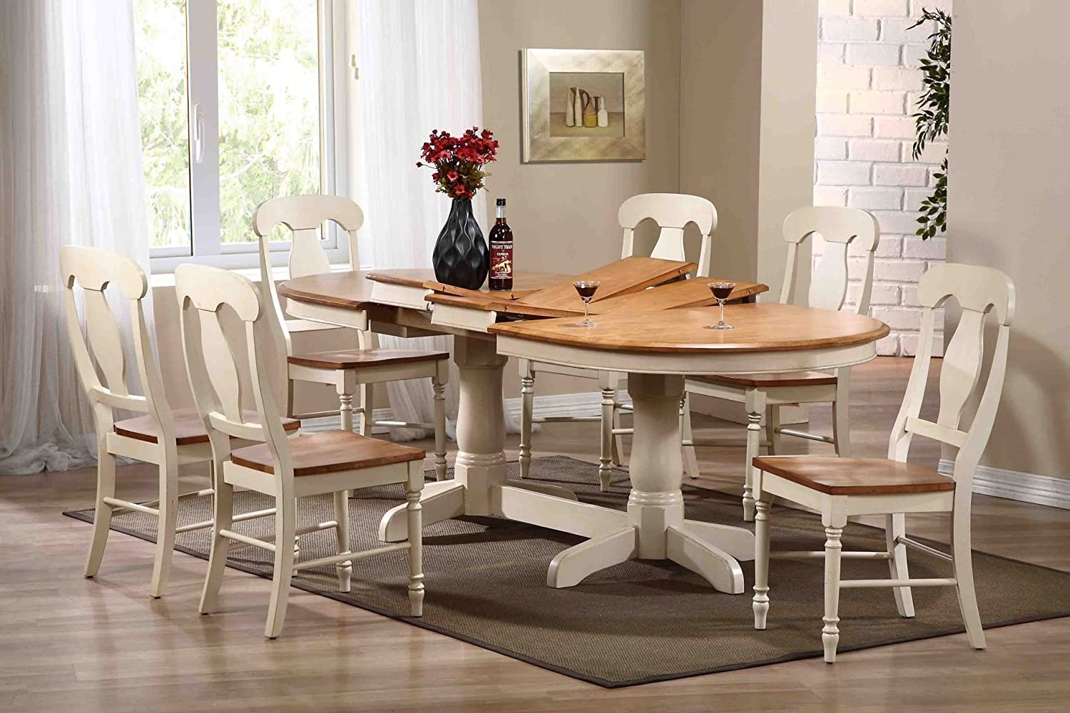 oval kitchen table set. Amazon.com - Iconic Furniture Oval Dining Table, 42\ Kitchen Table Set V