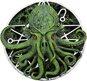 "Ebros Oberon Zell The Great Cthulhu Elder God With Occult Metaphysical Star Symbol Round Wall Decor 5.75""Diameter Figurine Home Decor Hanging Plaque"