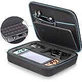 iAmer Custodia per Nintendo Switch, Case da Trasporto per Console Switch, Adattatore Presa, Joy-Con Grip (o Pro Controller), Cavo HDMI, Strap e altri Accessori con 21 Cartucce di Gioco