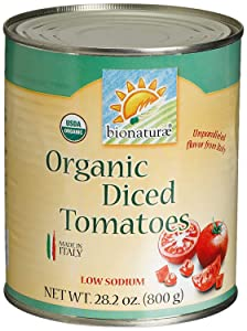 Bionaturae Diced Tomatoes | Organic Diced Tomatoes | Keto Friendly | Non-GMO | USDA Certified Organic | No Added Sugar | No Added Salt | Made in Italy | 28.2 oz (12 Pack)