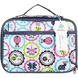 儿童午餐盒隔热软袋 迷你 Cooler 回到学校 保暖用餐袋 套装适合女孩、男孩、女士、男款 FlowFly 卡通 School FW-US-IB01S-CT1