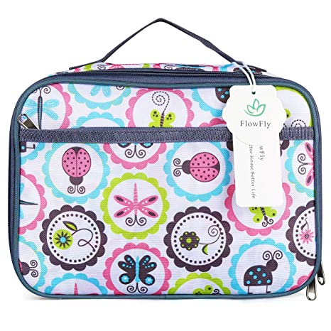 Kids Lunch Box Insulated Soft Bag Mini Cooler Back To School Thermal Meal Tote Kit For Girls Boys By Flowfly Cartoon