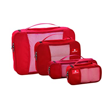 Eagle Creek Pack-It Cube Set with Slim Tube Cube, Red Fire