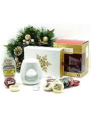 Official Yankee Candle 20 Piece Festive Season Melt Warmer Christmas Set Gift Pack Includes Melt Warmer, Wax Cubes, Wax Melts & Unscented Tea Light