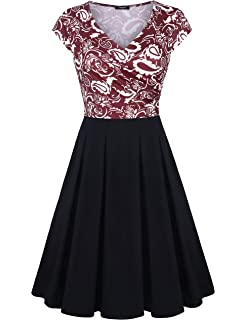 b781954259 Lotusmile Womens Elegant Dress with Pockets