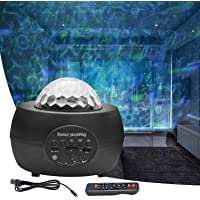 FantasyAttics LED Night Light Projector - 3 in 1 Galaxy Star Projector Skylight Ocean Wave and Water Wave Children's…
