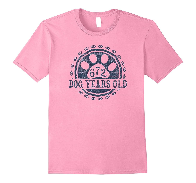 672 Dog Years Old 96 Human Yrs Old 96th Birthday Gift Shirt