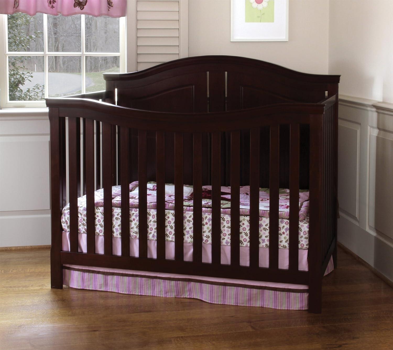 parker cribs shipping crib cherry in convertible free davinci