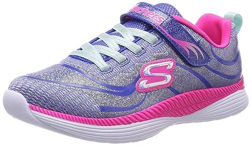 Skechers Move n Groove, Zapatillas para Niñas, Azul (Blue Hot Pink Blhp