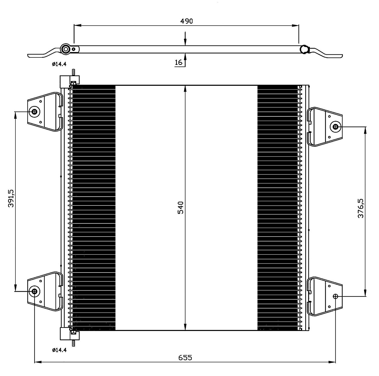 Klimaanlage NRF 35757 Kondensator