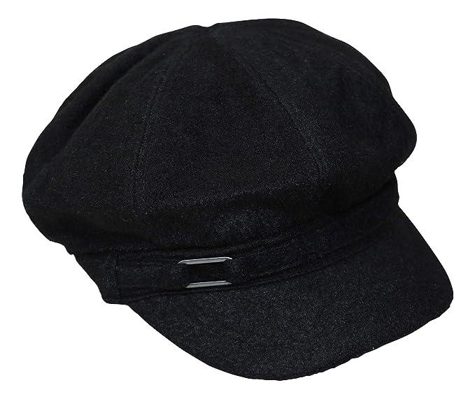 db718a0d183d7 Nine West Womens Boucle Newsboy Cap Black
