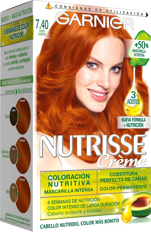 Garnier Nutrisse Coloración, Tono 7.40 Rubio Cobrizo, 40 ml ...