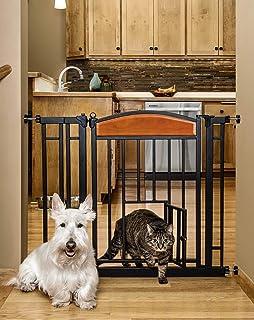 6edaafc724e Amazon.com  Carlson 68-Inch Wide Adjustable Freestanding Pet Gate ...