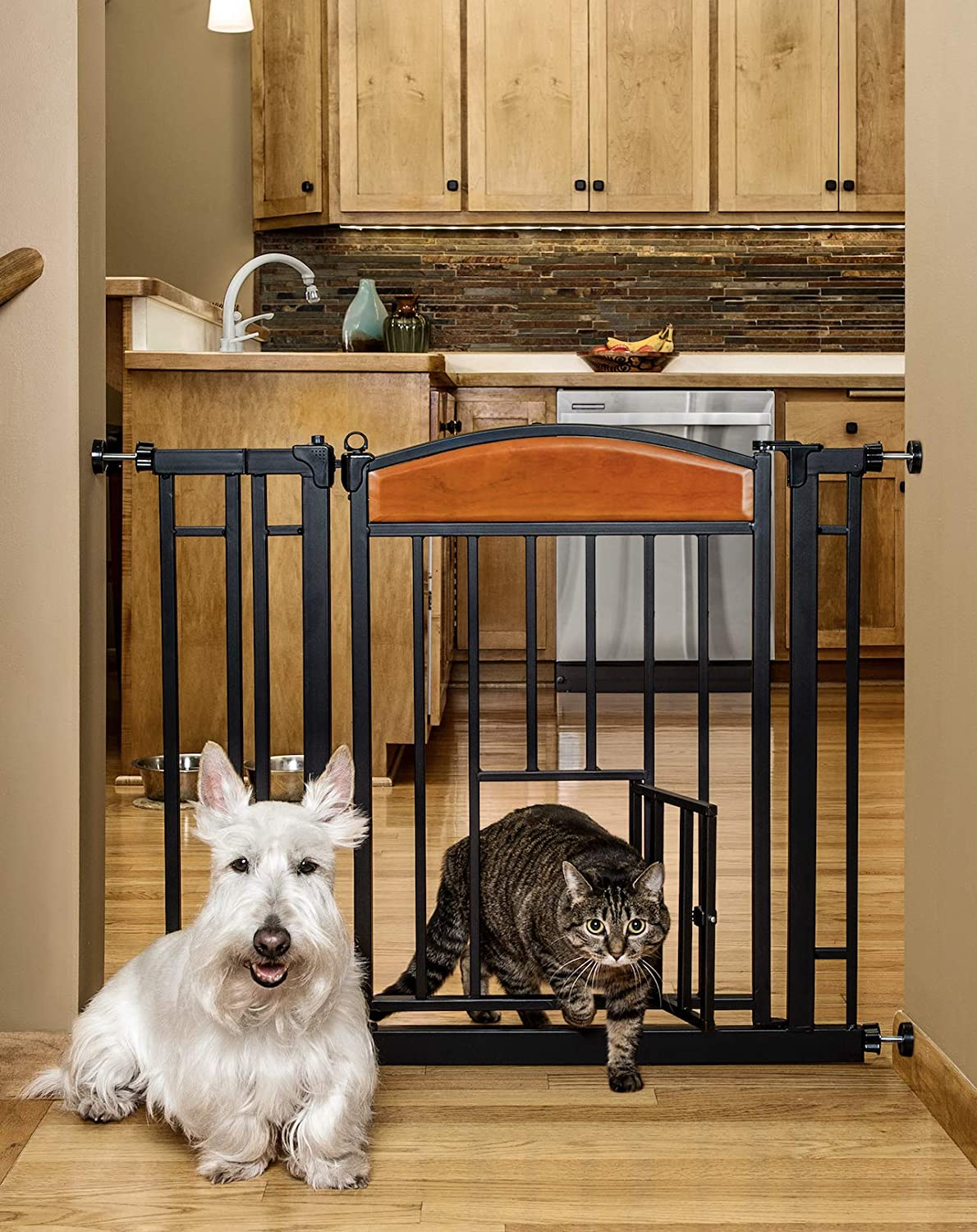 Carlson Pet Products Design Studio Home Decor Walk Through Pet Gate 3030 DS