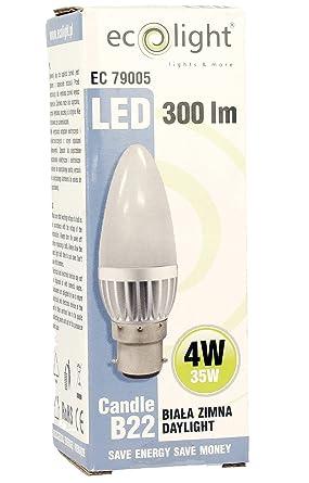 Eco C35 4 W luz=35 W Bombillas LED tipo vela casquillo de bayoneta B22