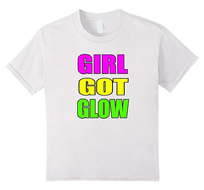 Kids Girl Got Glow Party Shirt 80s Birthday 10 White